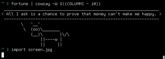 fortune | cowsay